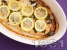 Рецепта Печена сьомгова пъстърва с копър и босилек на фурна